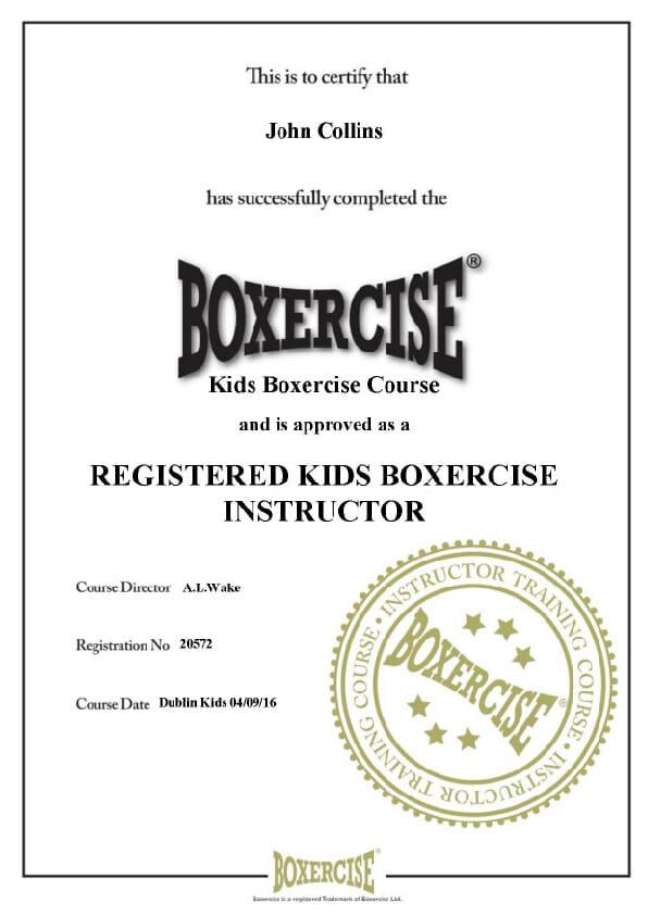 Kids Boxercise Instructor